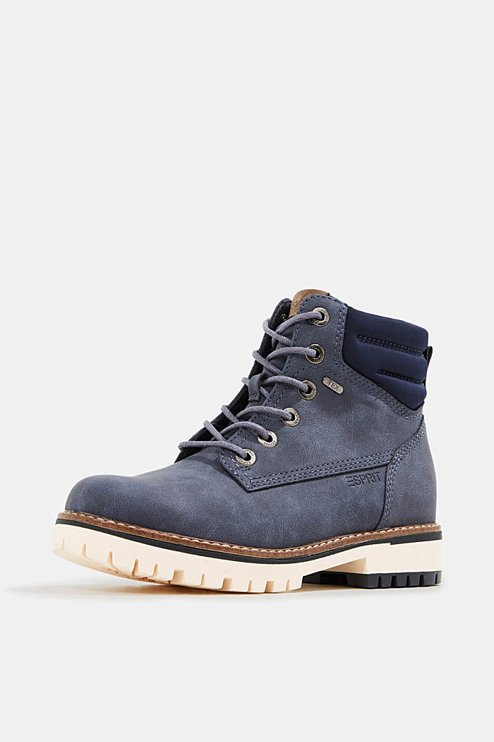 Lace-up boots with a TEX membrane, NAVY, detail image number 2