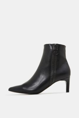 Faux leather ankle boots, BLACK, detail