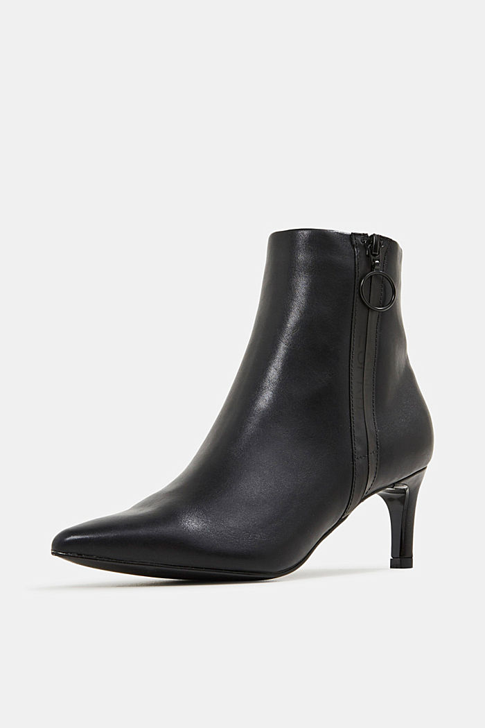 Faux leather ankle boots, BLACK, detail image number 2