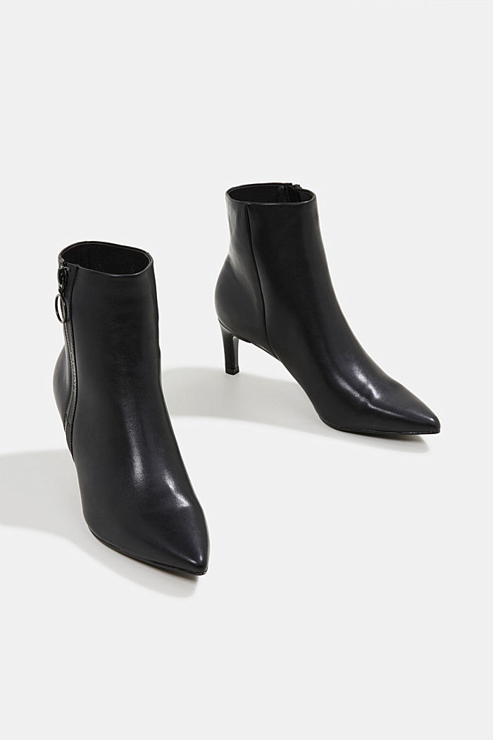 Faux leather ankle boots, BLACK, detail image number 6