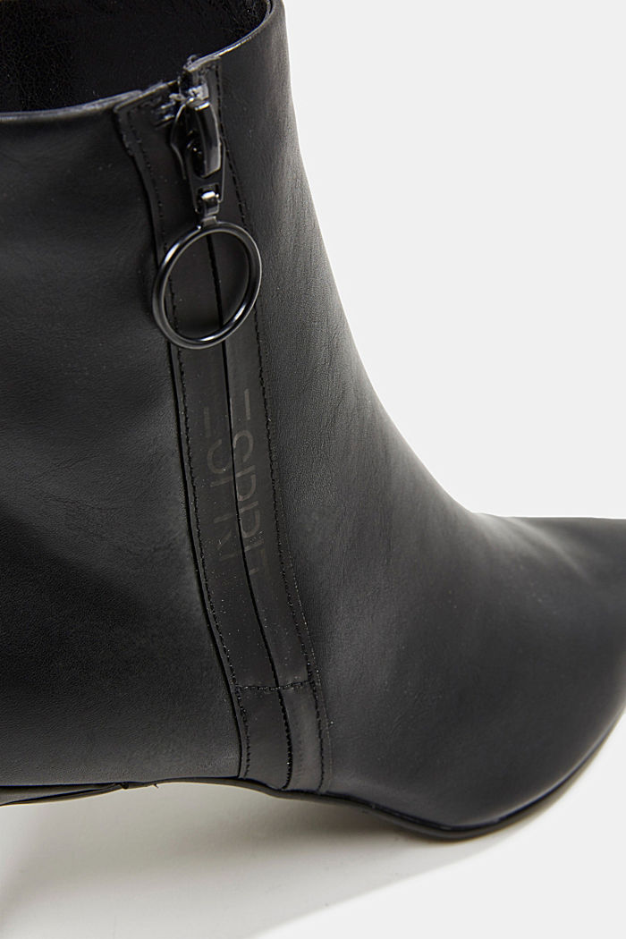 Faux leather ankle boots, BLACK, detail image number 4