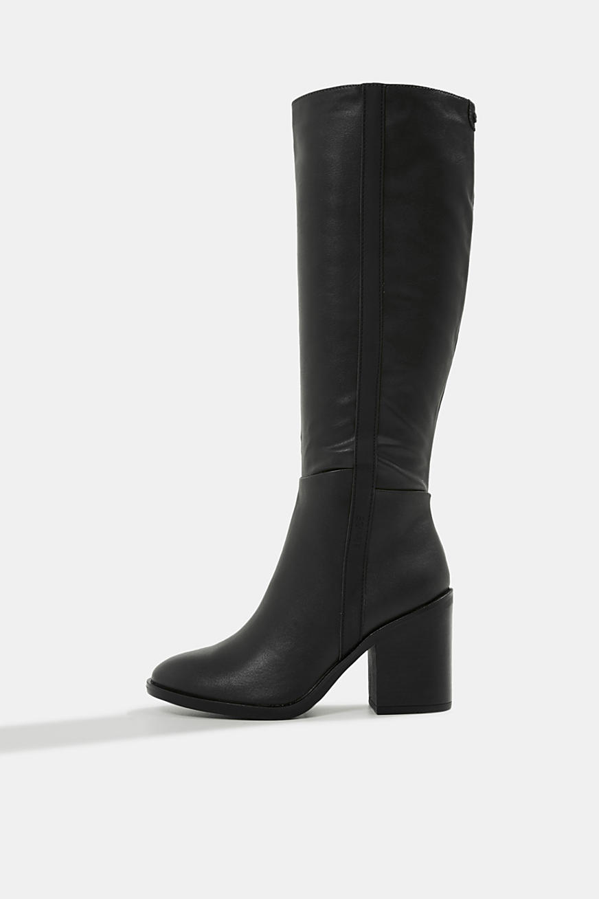 Faux leather boots