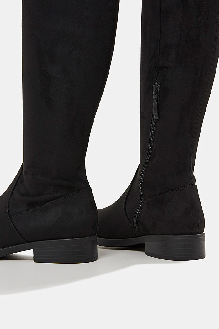 Faux suede boots, BLACK, detail image number 5