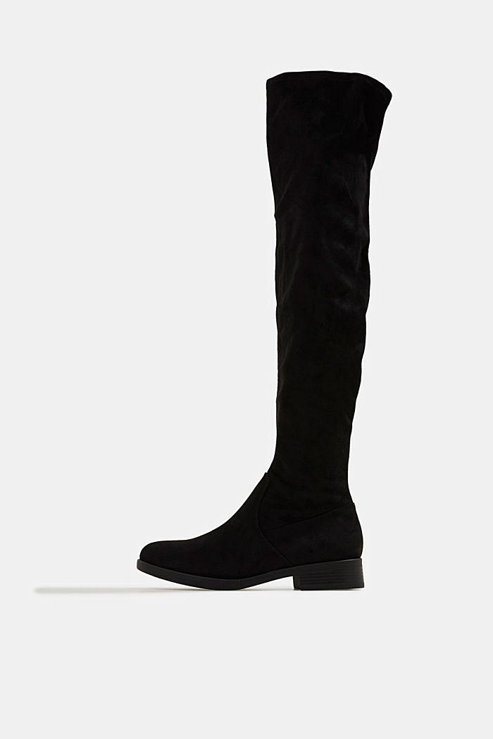 Overknees in suèdelook, BLACK, detail image number 0