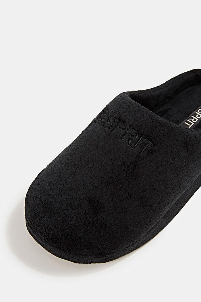 Faux-fur slip-ons, BLACK, detail image number 5