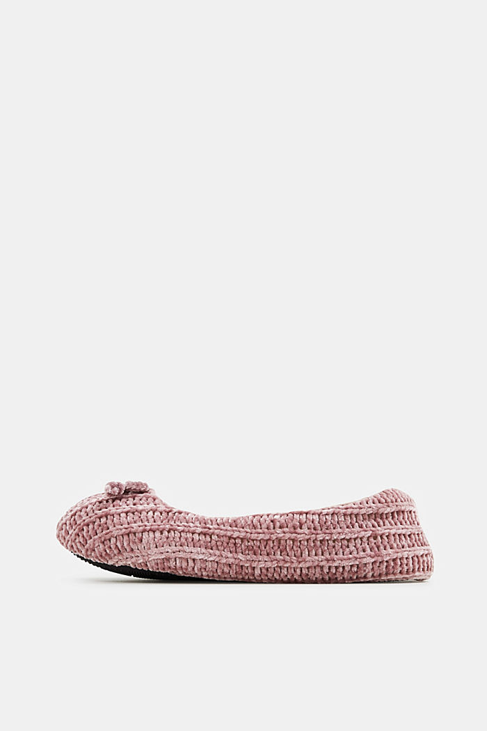Slippers in a knit look, NUDE, detail image number 0