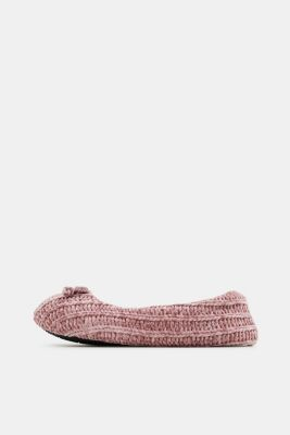Slippers in a knit look, NUDE, detail