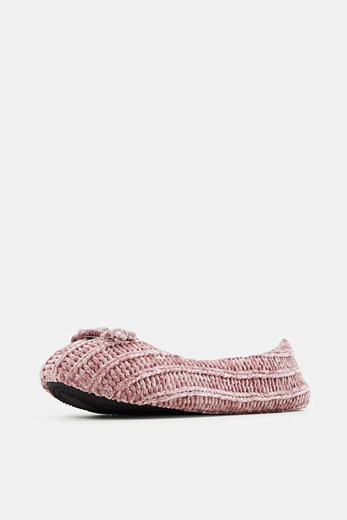Slippers in a knit look, NUDE, detail image number 2