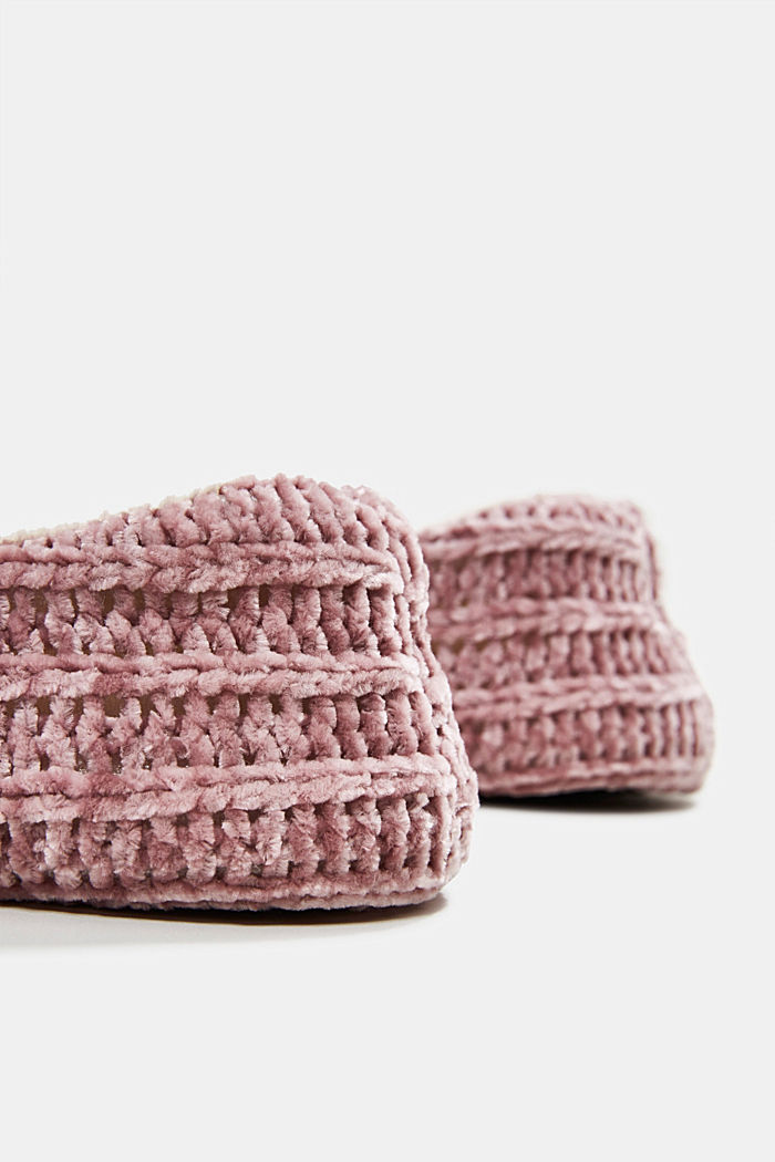 Slippers in a knit look, NUDE, detail image number 3