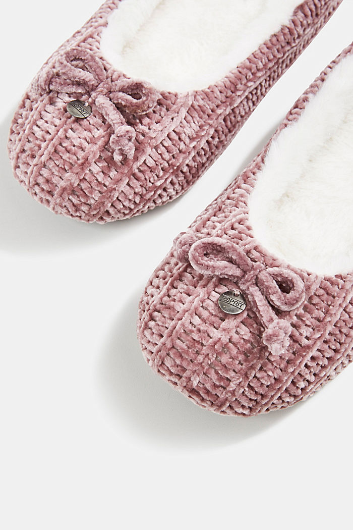 Slippers in a knit look, NUDE, detail image number 5