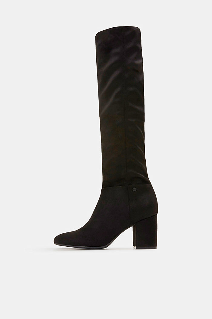 Faux suede boots, BLACK, detail image number 0