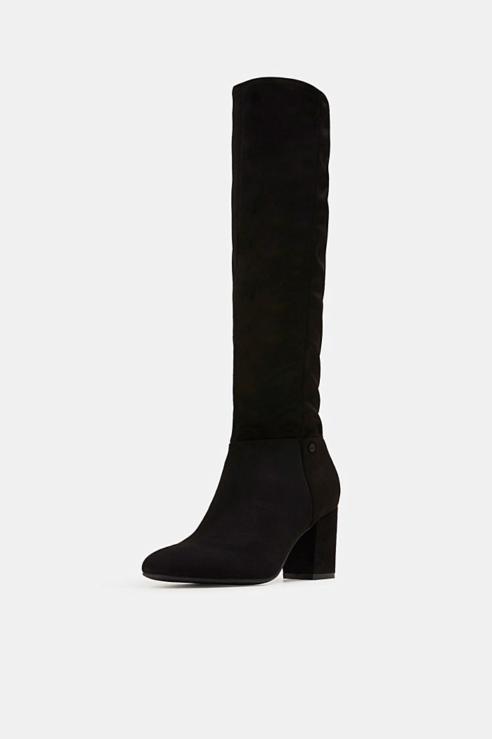 Faux suede boots, BLACK, detail image number 2