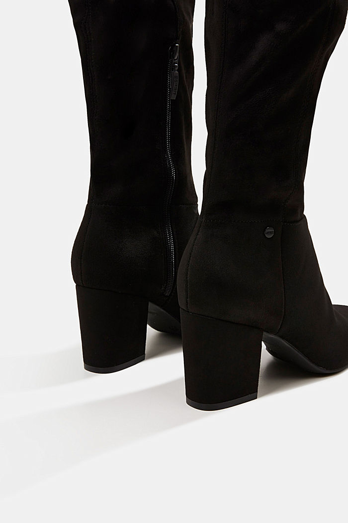 Faux suede boots, BLACK, detail image number 4