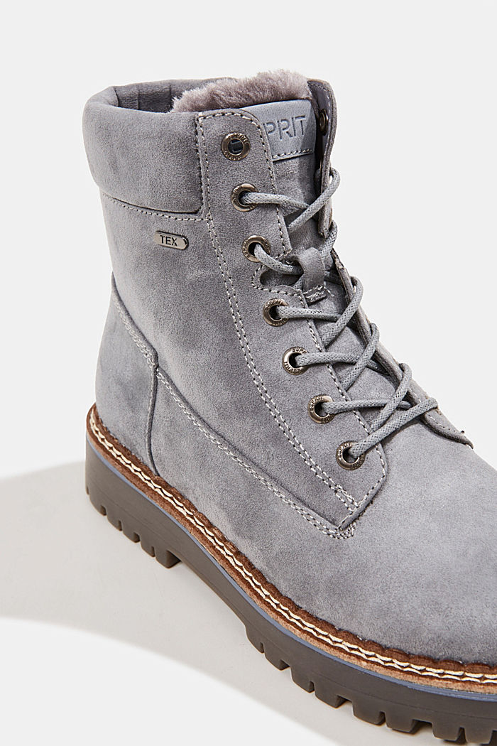 Faux leather lace-up boots, LIGHT BLUE, detail image number 4