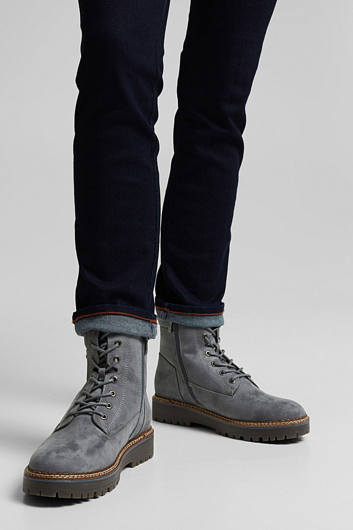 Faux leather lace-up boots, LIGHT BLUE, detail image number 3