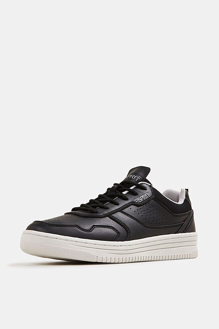 Faux leather trainers, BLACK, detail image number 2