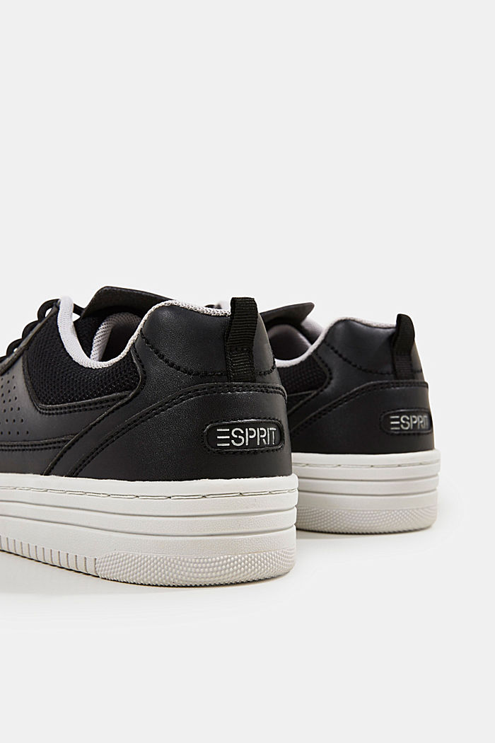 Faux leather trainers, BLACK, detail image number 4
