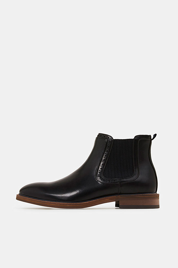 Faux leather Chelsea boots, BLACK, detail image number 0