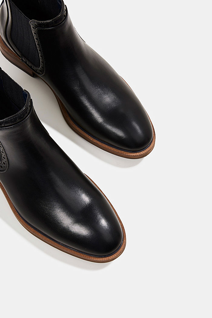 Faux leather Chelsea boots, BLACK, detail image number 4