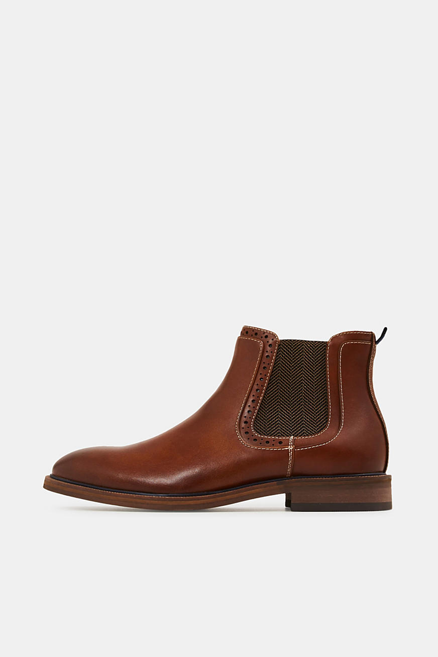 Chelsea-Boots in Leder-Optik