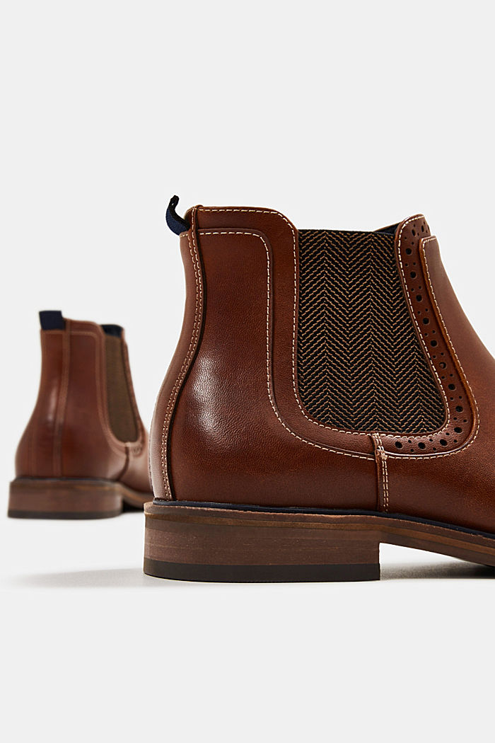 Chelsea-Boots in Leder-Optik, TOFFEE, detail image number 5