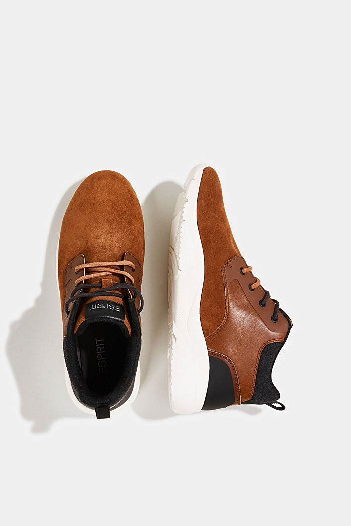 Including leather: Trainer ankle boots, TOFFEE, detail image number 1