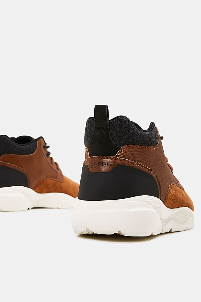 Including leather: Trainer ankle boots, TOFFEE, detail image number 5