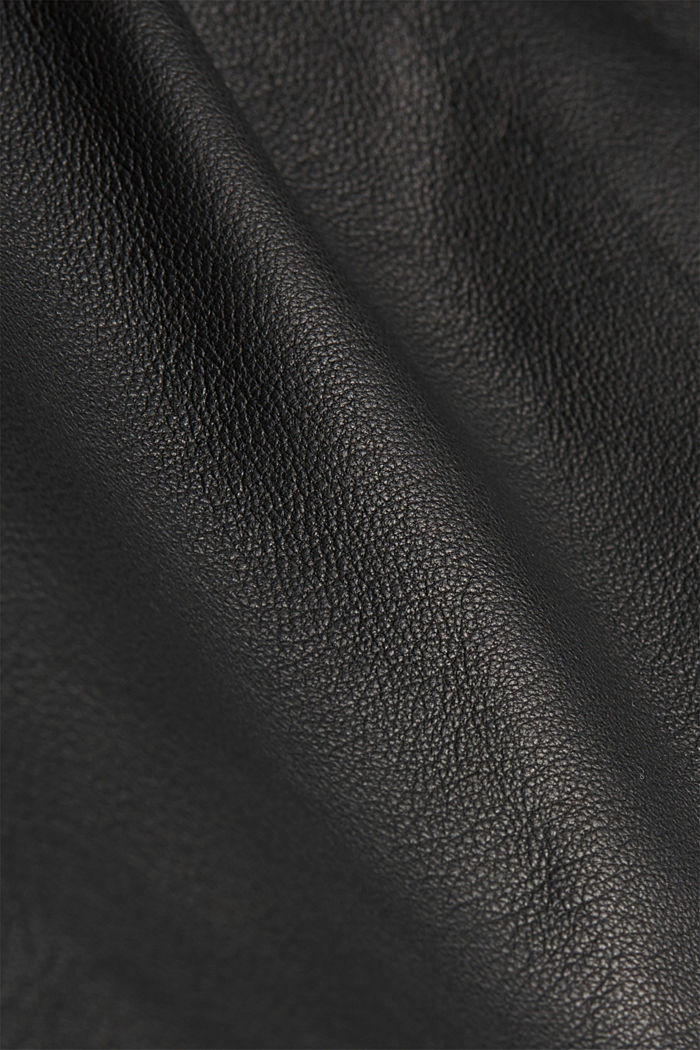 High-rise trousers made of 100% lamb leather, BLACK, detail image number 4
