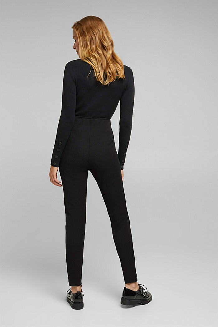 Two-way stretch trousers with LENZING™ ECOVERO™, BLACK, detail image number 3