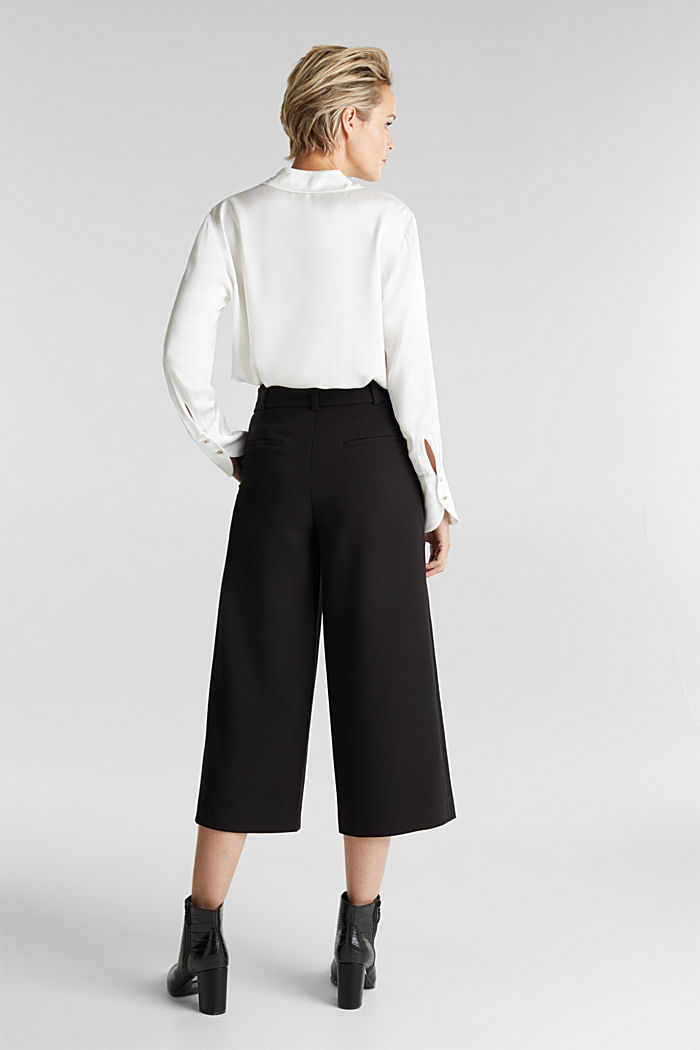 Culottes with stretch for comfort, BLACK, detail image number 3