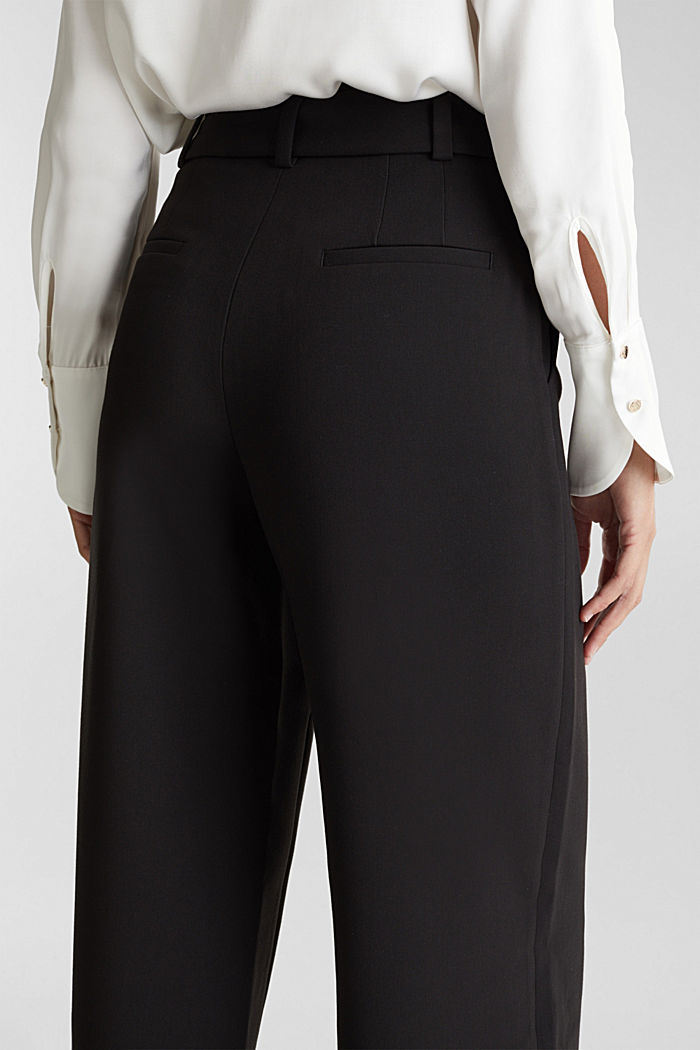Culottes with stretch for comfort, BLACK, detail image number 5