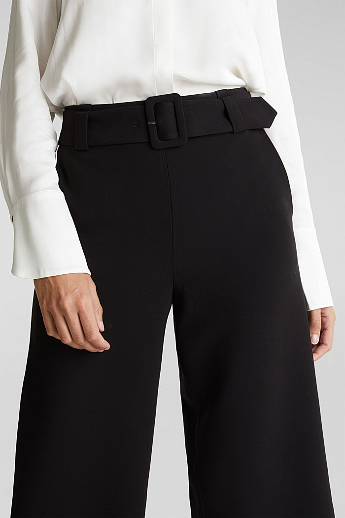 Culottes with stretch for comfort, BLACK, detail image number 2