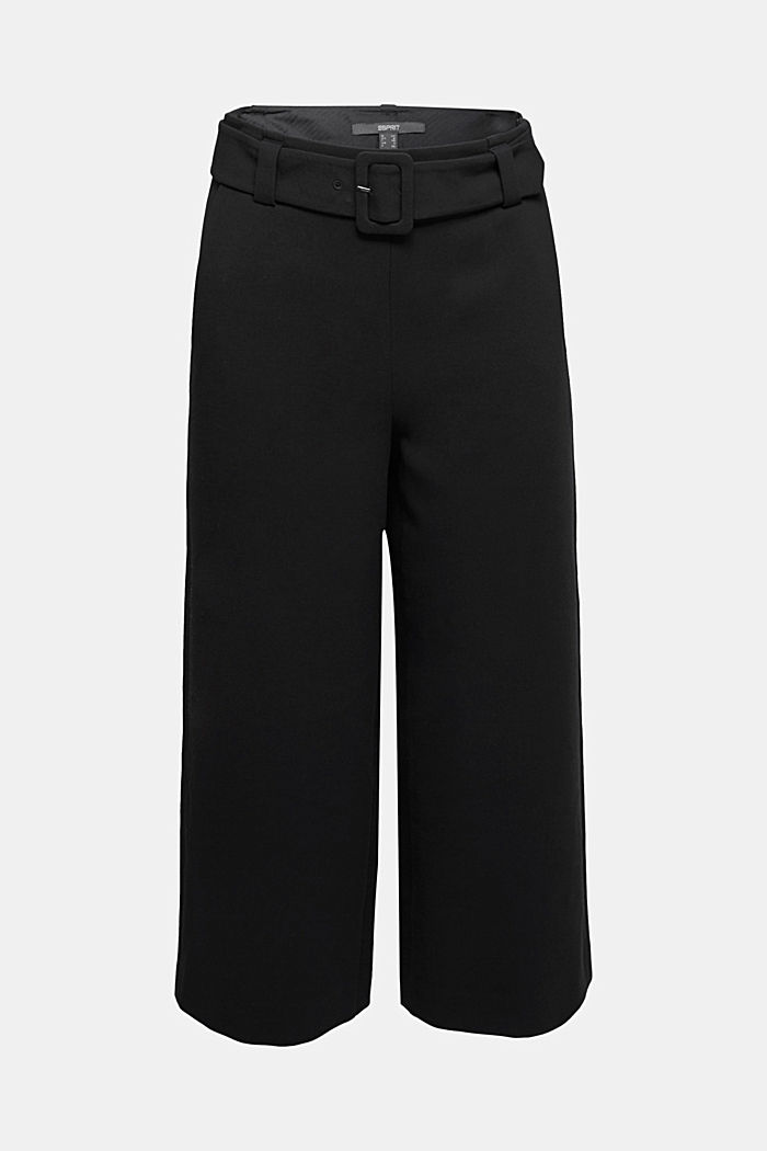 Culottes with stretch for comfort, BLACK, detail image number 6