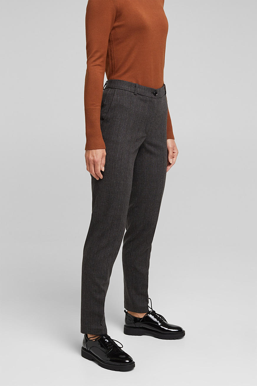 Wool blend: CHECK mix + match trousers