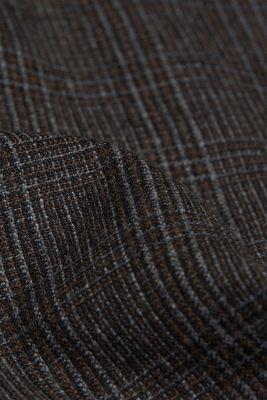 Wool blend: CHECK mix + match trousers, DARK BROWN, detail