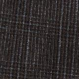 Wool blend: CHECK mix + match trousers, DARK BROWN, swatch