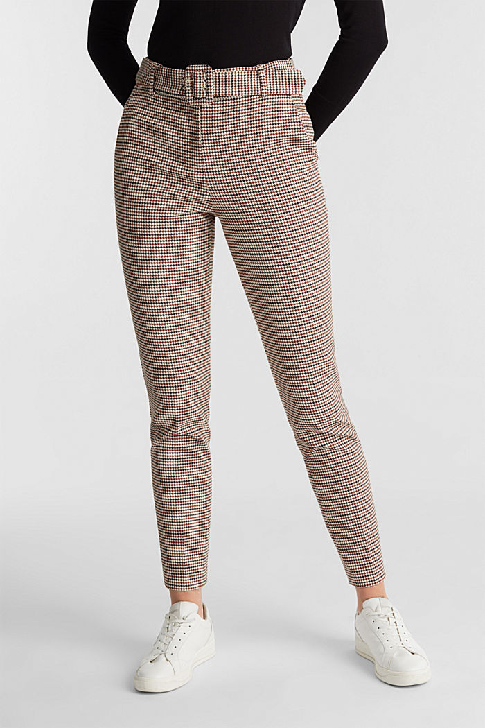HOUNDSTOOTH: Mix + Match trousers, TOFFEE, detail image number 0
