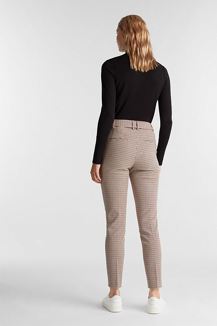 HOUNDSTOOTH: Mix + Match trousers, TOFFEE, detail image number 3