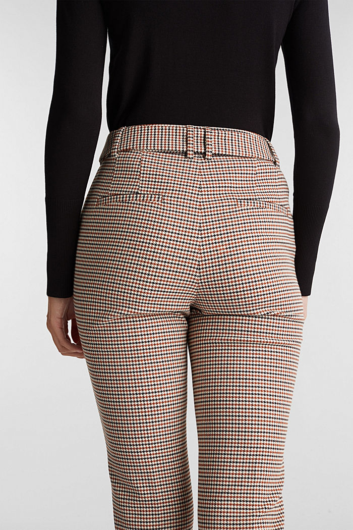 HOUNDSTOOTH: Mix + Match trousers, TOFFEE, detail image number 2