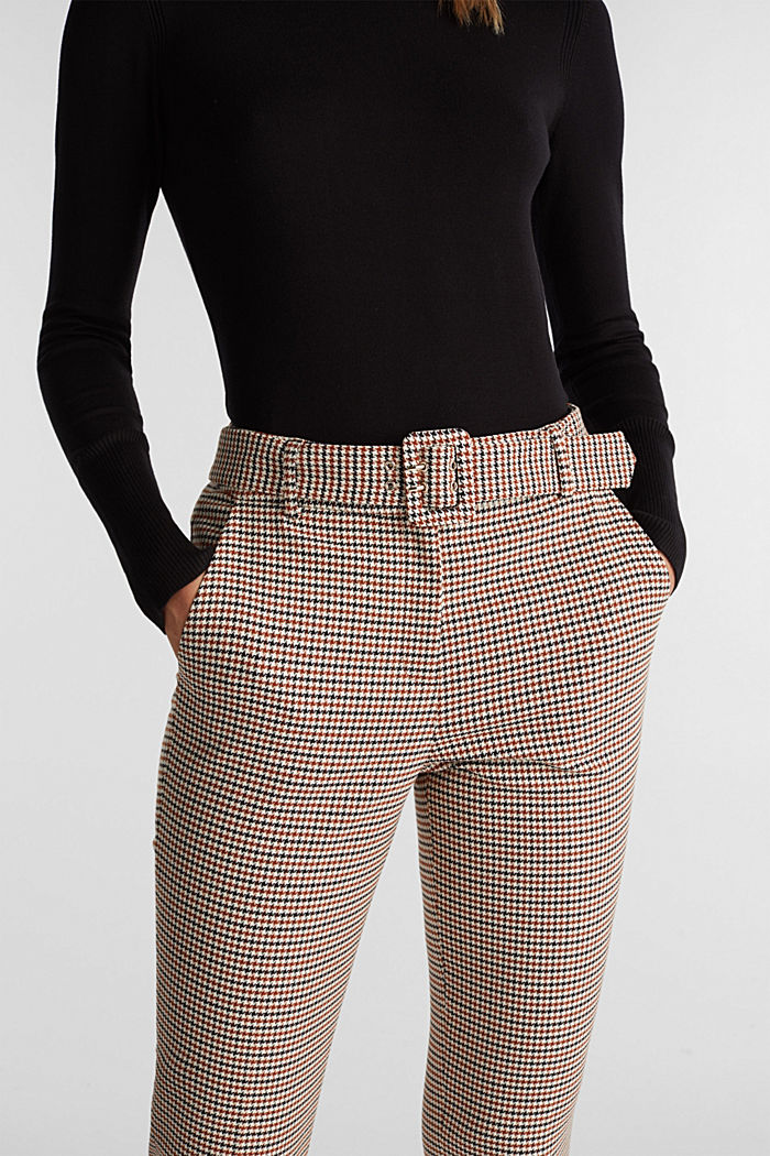HOUNDSTOOTH: Mix + Match trousers, TOFFEE, detail image number 5
