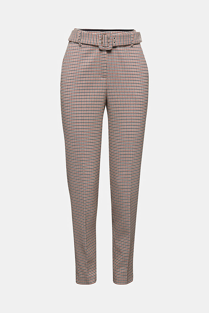 HOUNDSTOOTH: Mix + Match trousers, TOFFEE, detail image number 7