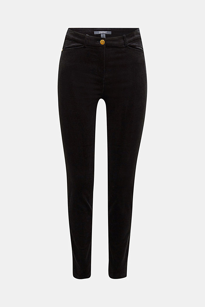 Soft needlecord trousers with stretch, BLACK, detail image number 6