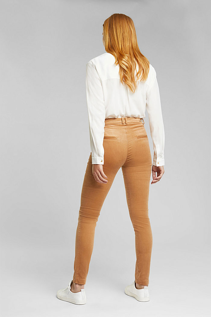 Soft needlecord trousers with stretch, CAMEL, detail image number 2