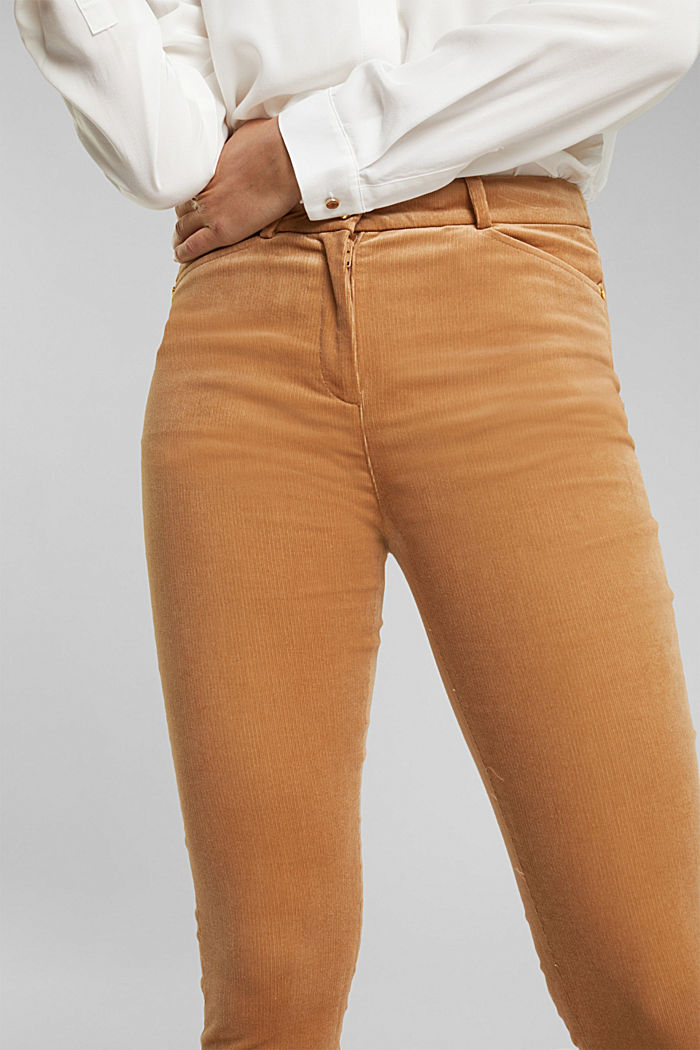 Soft needlecord trousers with stretch, CAMEL, detail image number 1