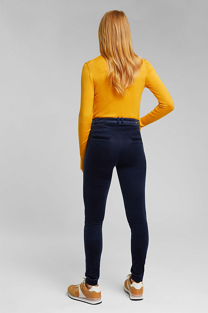 Soft needlecord trousers with stretch, NAVY, detail image number 3