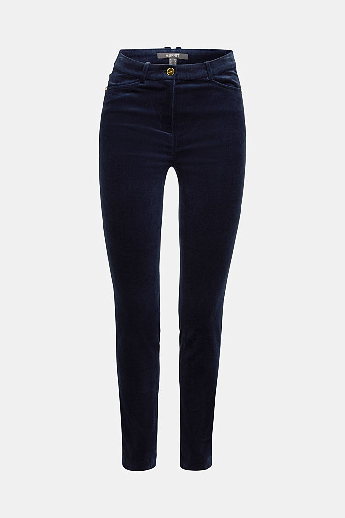 Soft needlecord trousers with stretch, NAVY, detail image number 6