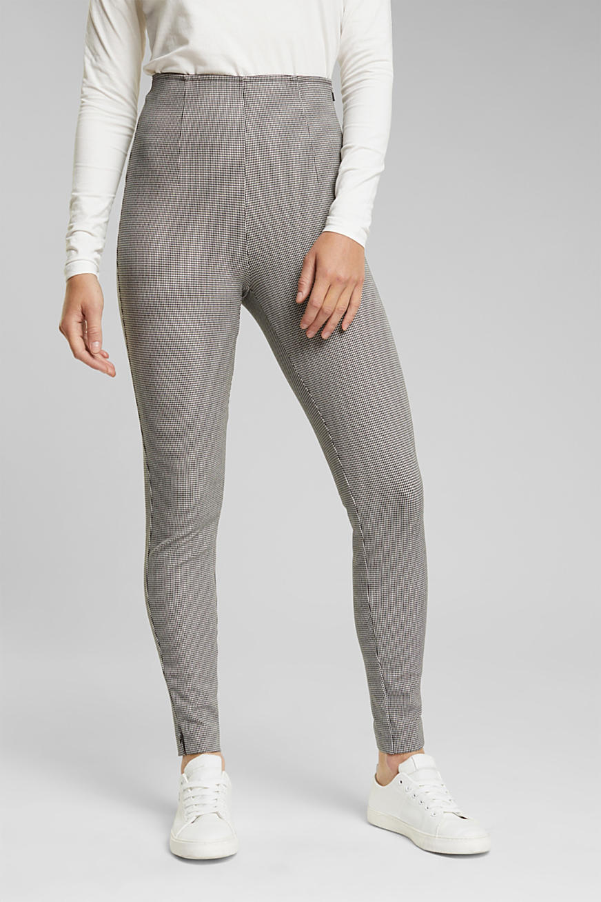 Treggings bi-stretch con quadri piccoli