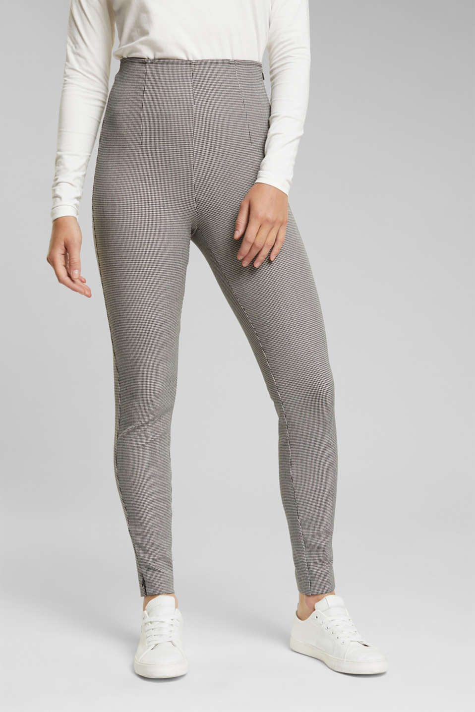 Esprit - Bi-Stretch-Treggings mit Mini-Karo