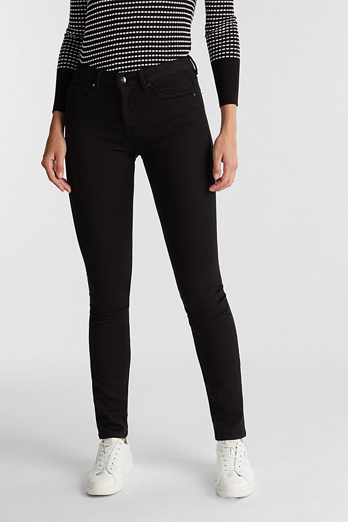 Super stretch business jeans, BLACK RINSE, overview