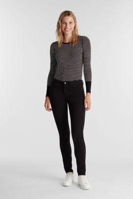 Super stretch business jeans, BLACK RINSE, detail